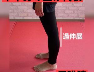 下半身の歪み・反跳膝🦵